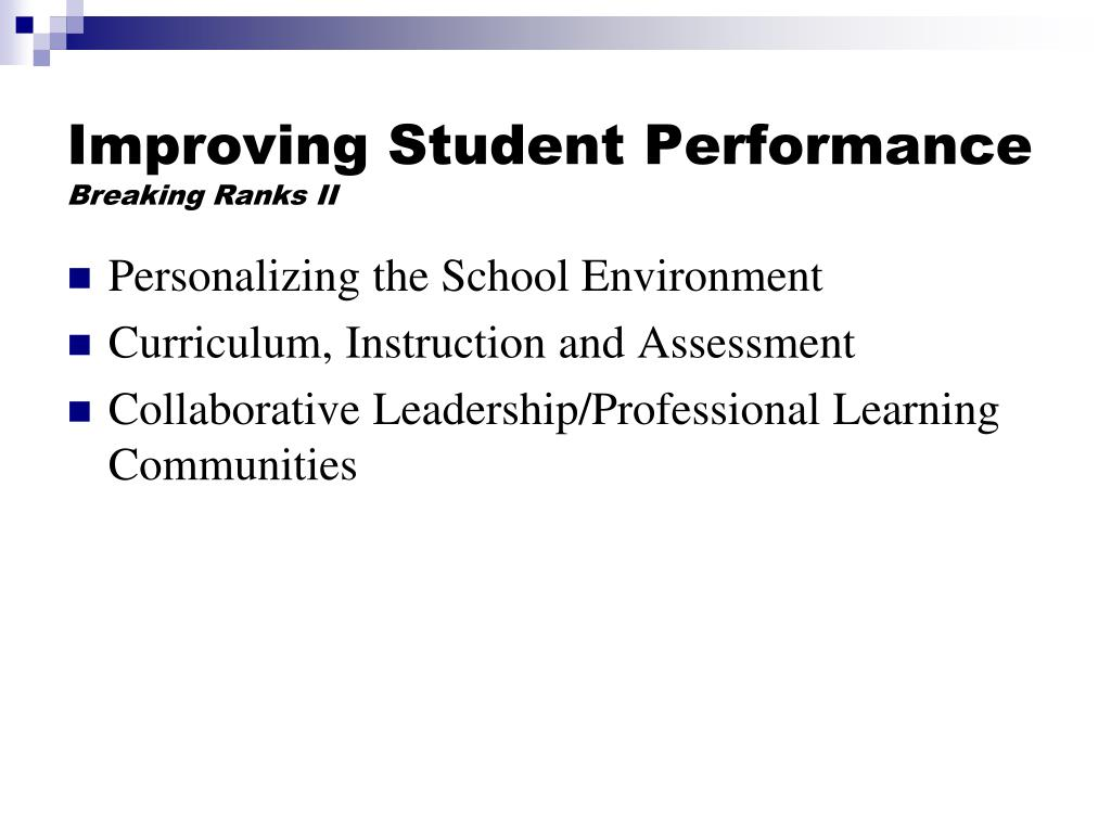 Improving Student Performance
