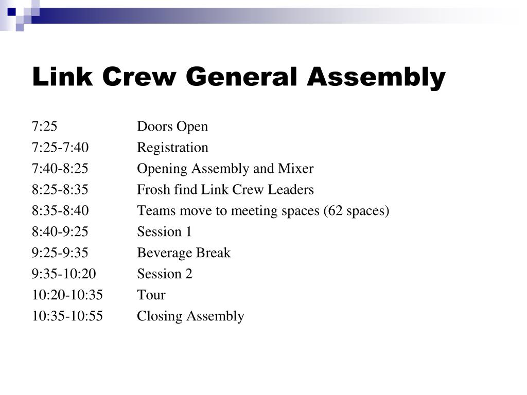 Link Crew General Assembly