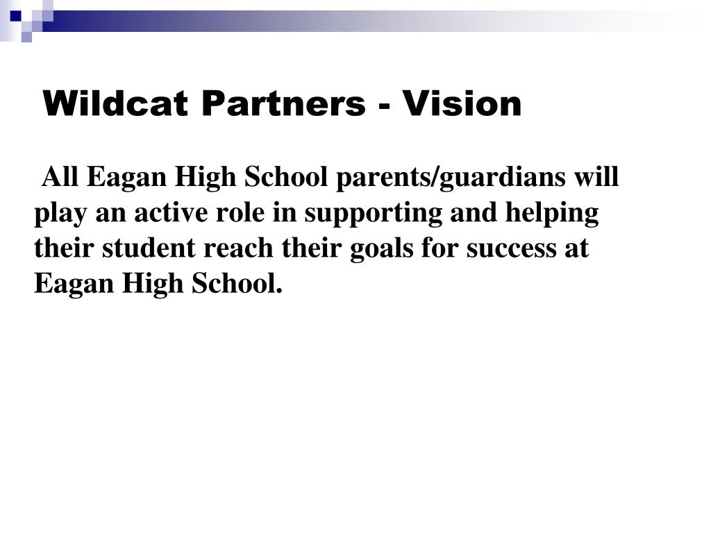 All Eagan High School parents/guardians will play an active role in supporting and helping their student reach their goals for success at Eagan High School.