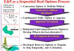 e p as a sequential real options process