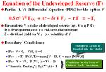 equation of the undeveloped reserve f