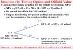 intuition 1 timing option and oilfield value