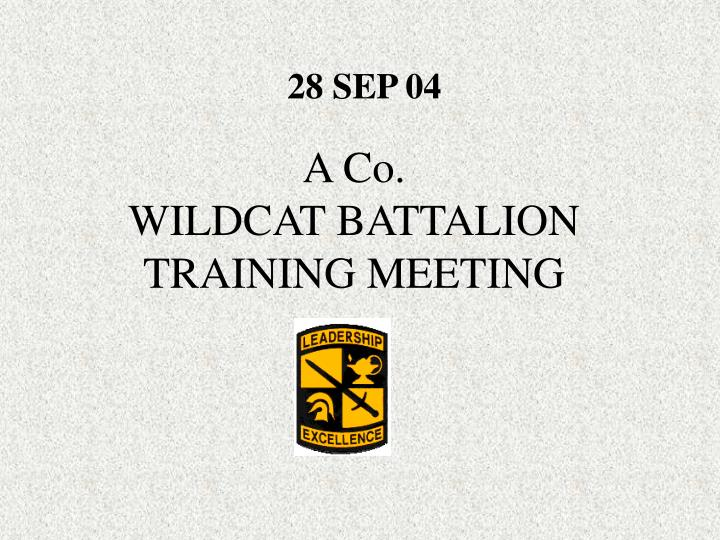 A co wildcat battalion training meeting