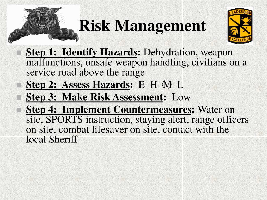Step 1:  Identify Hazards