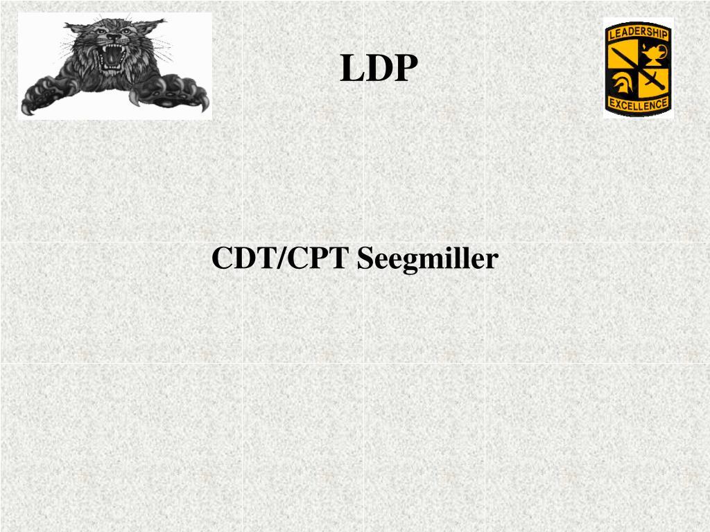 CDT/CPT Seegmiller