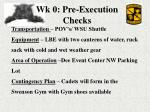 wk 0 pre execution checks33