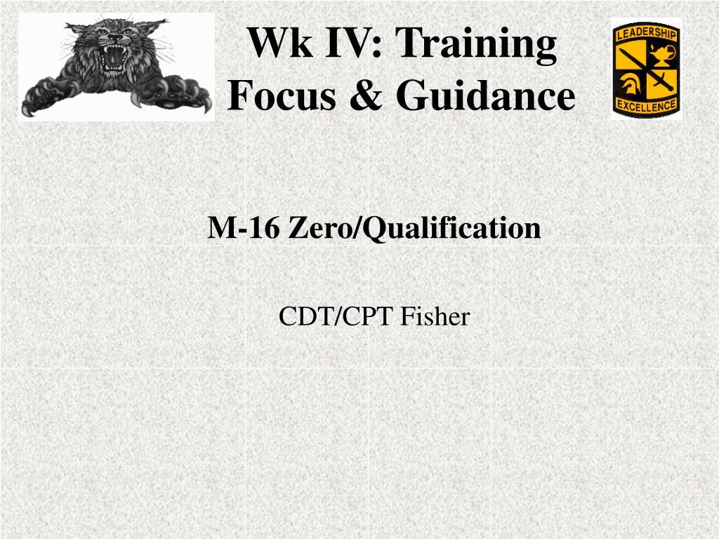M-16 Zero/Qualification
