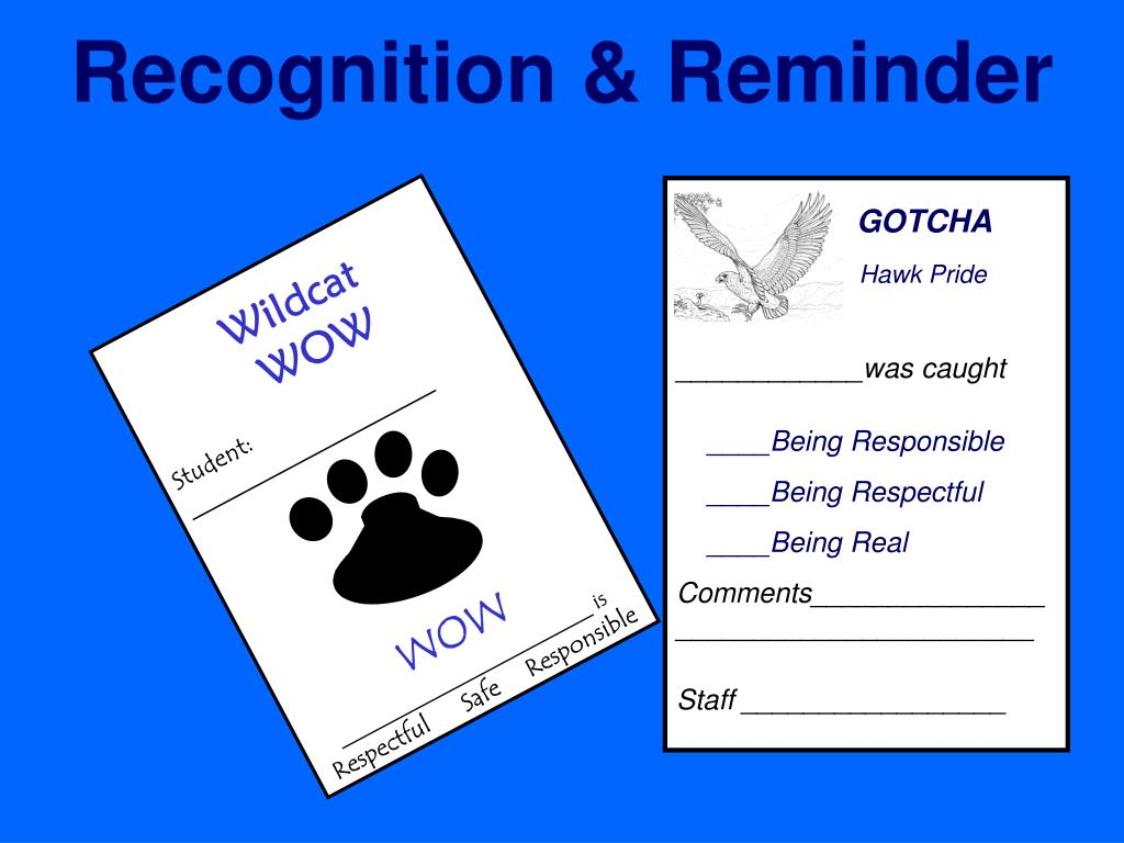 Recognition & Reminder