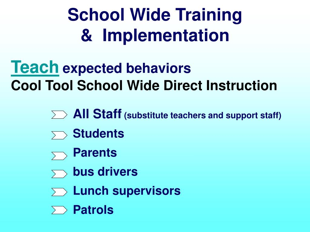 School Wide Training