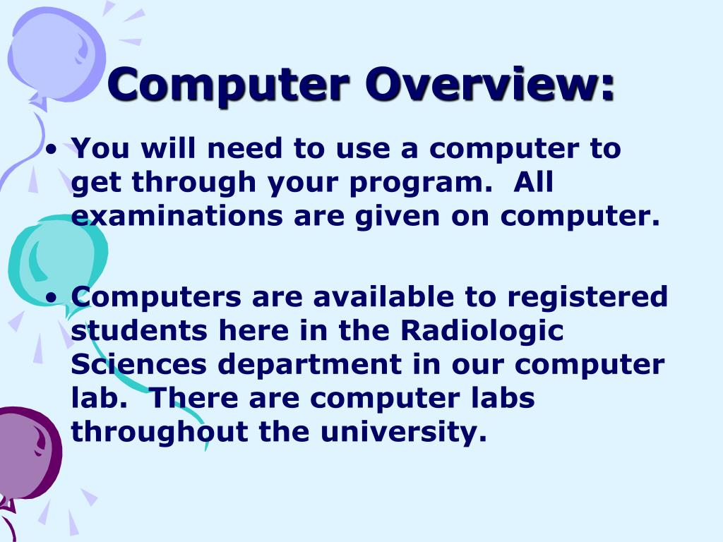 Computer Overview: