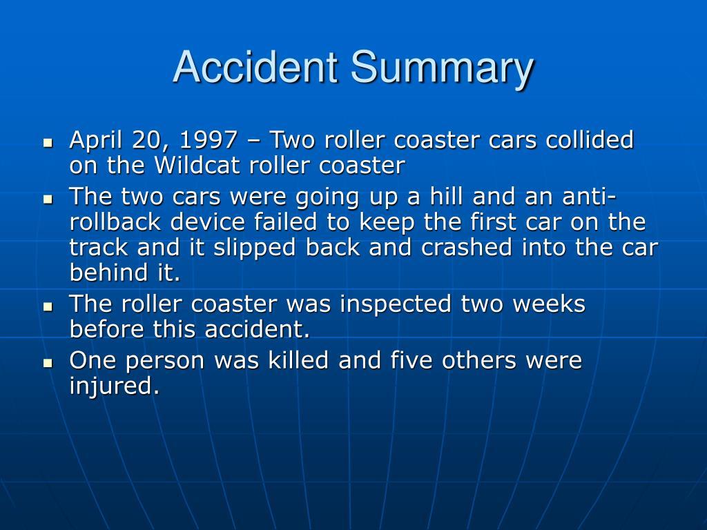 Accident Summary