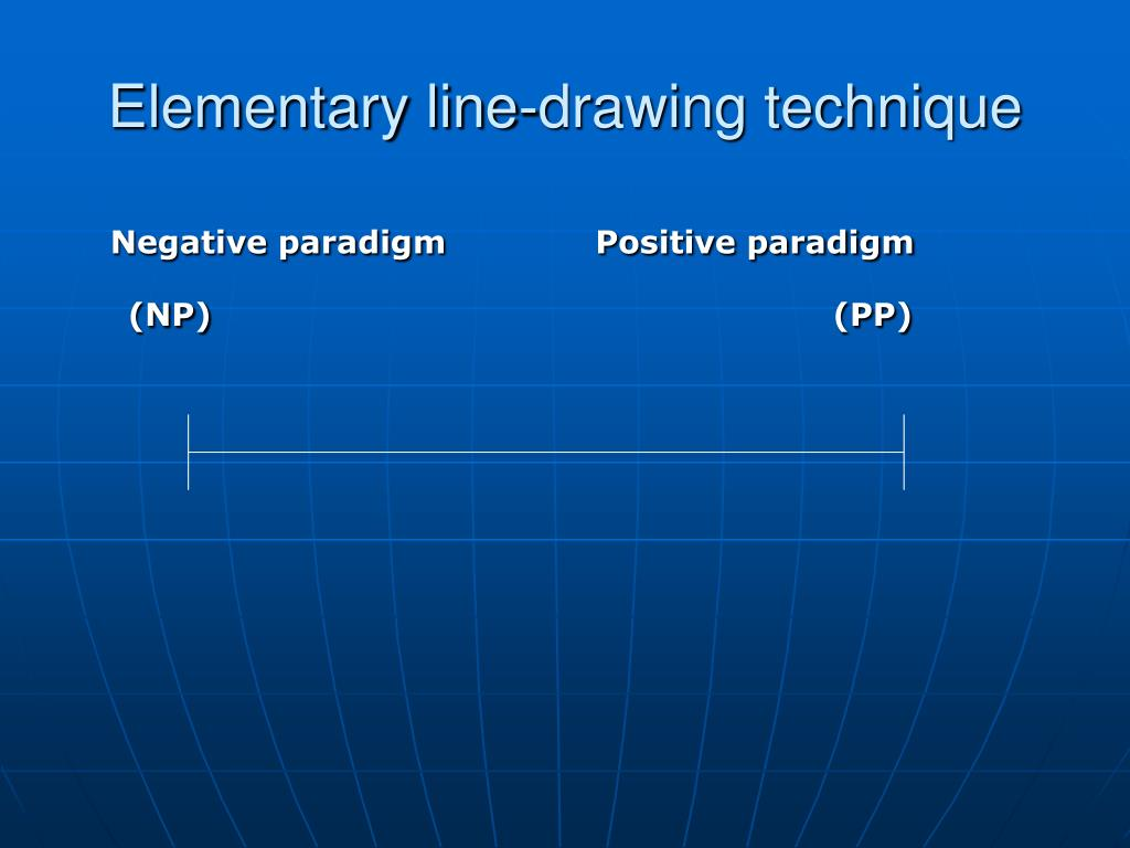 Elementary line-drawing technique