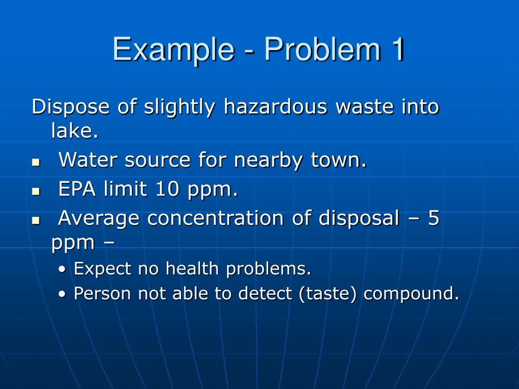 Example - Problem 1
