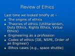review of ethics