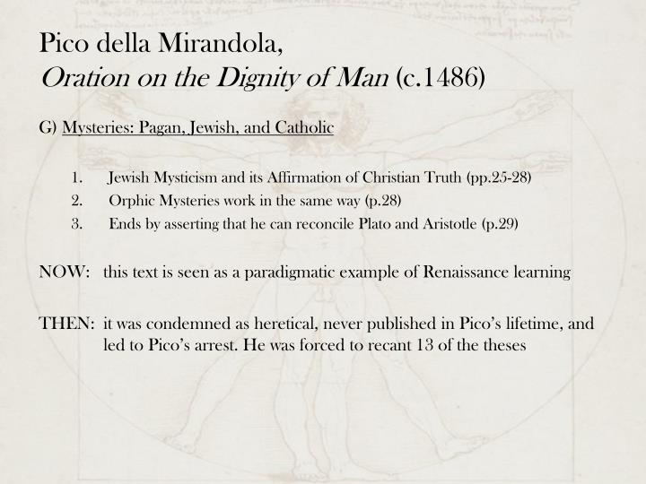 oration on the dignity of man Oration on the dignity of man by giovanni pico della mirandola starting at $099 oration on the dignity of man has 3 available editions to buy at alibris.