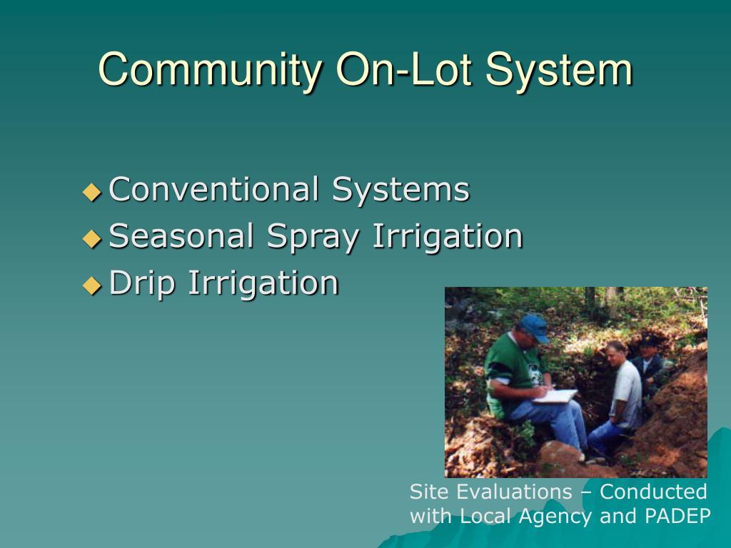 Community On-Lot System