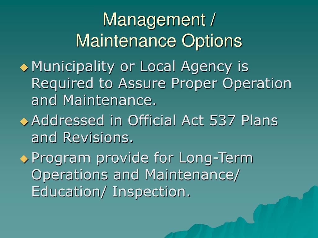Management /