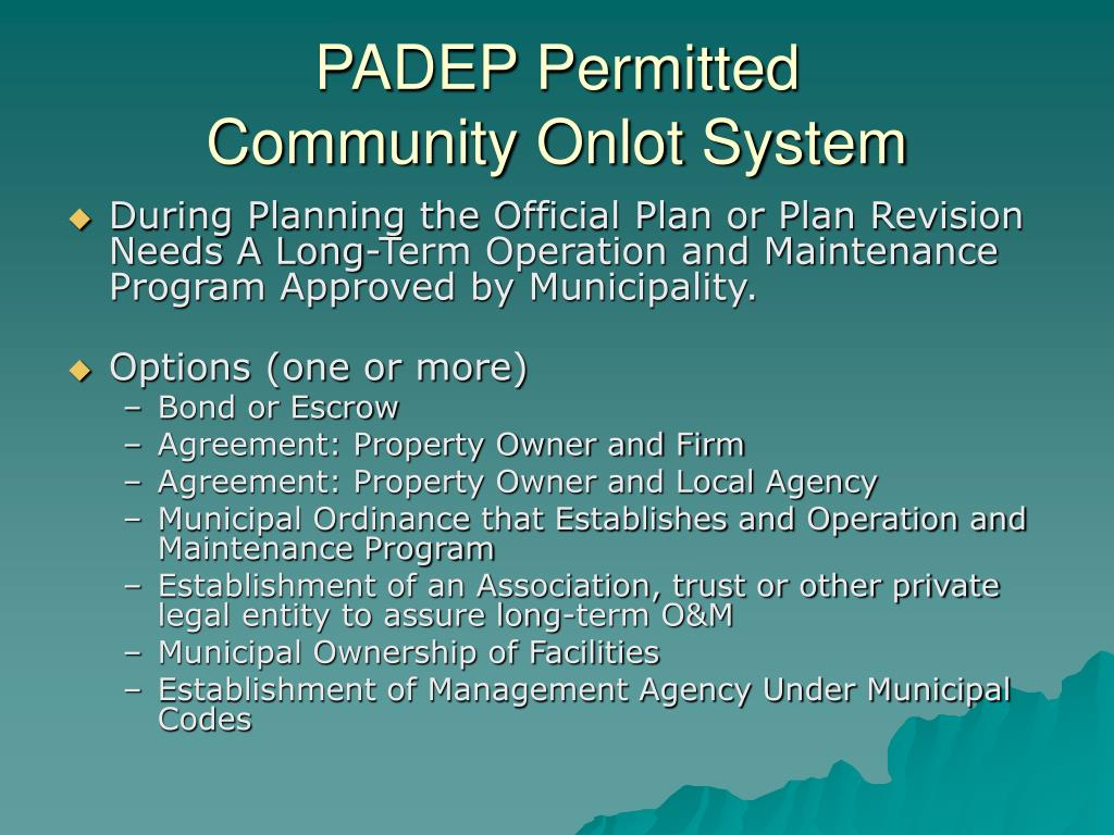 PADEP Permitted
