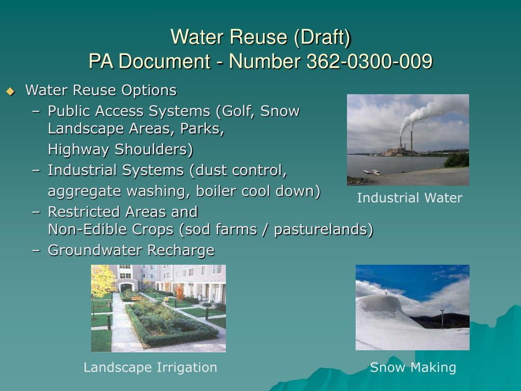 Water Reuse (Draft)