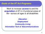 goals of the at act programs