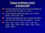 types of binary ionic compounds1