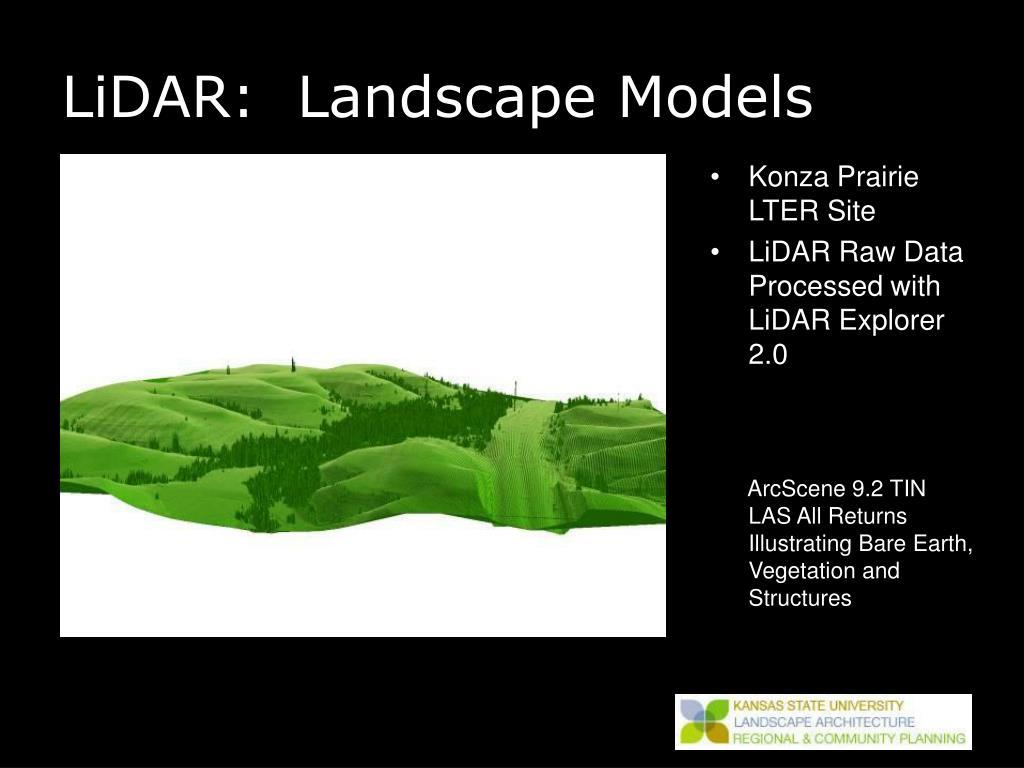 LiDAR:  Landscape Models