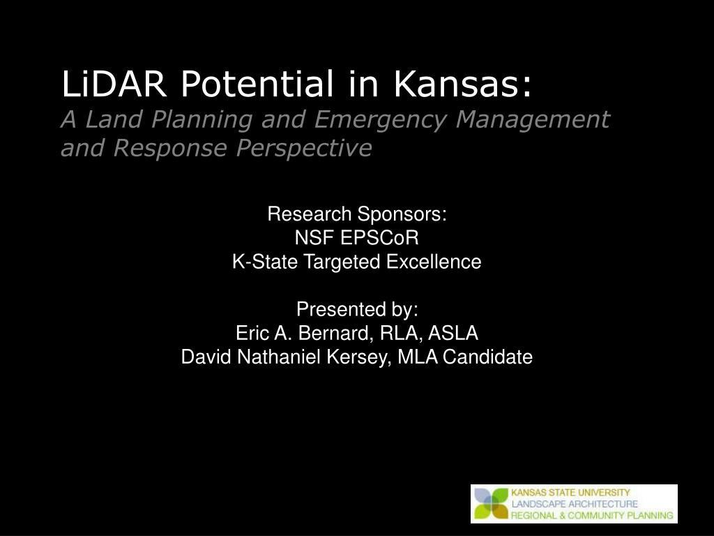 LiDAR Potential in Kansas: