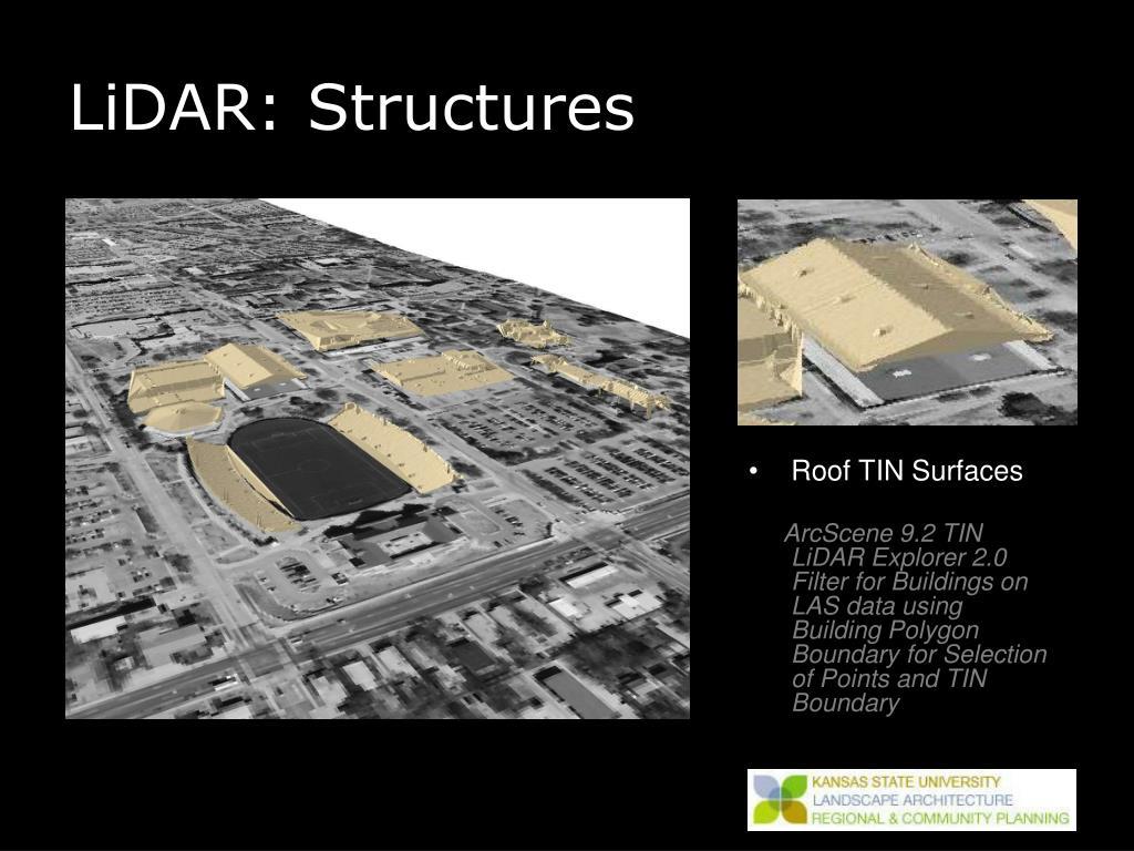 LiDAR: Structures