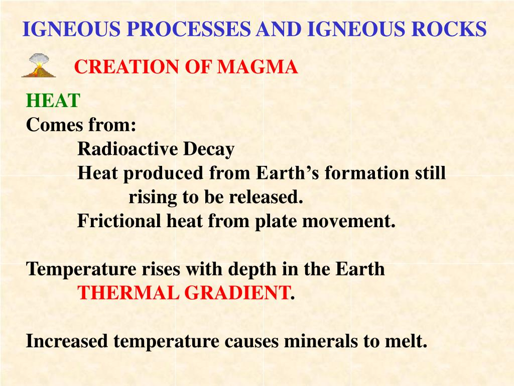 CREATION OF MAGMA