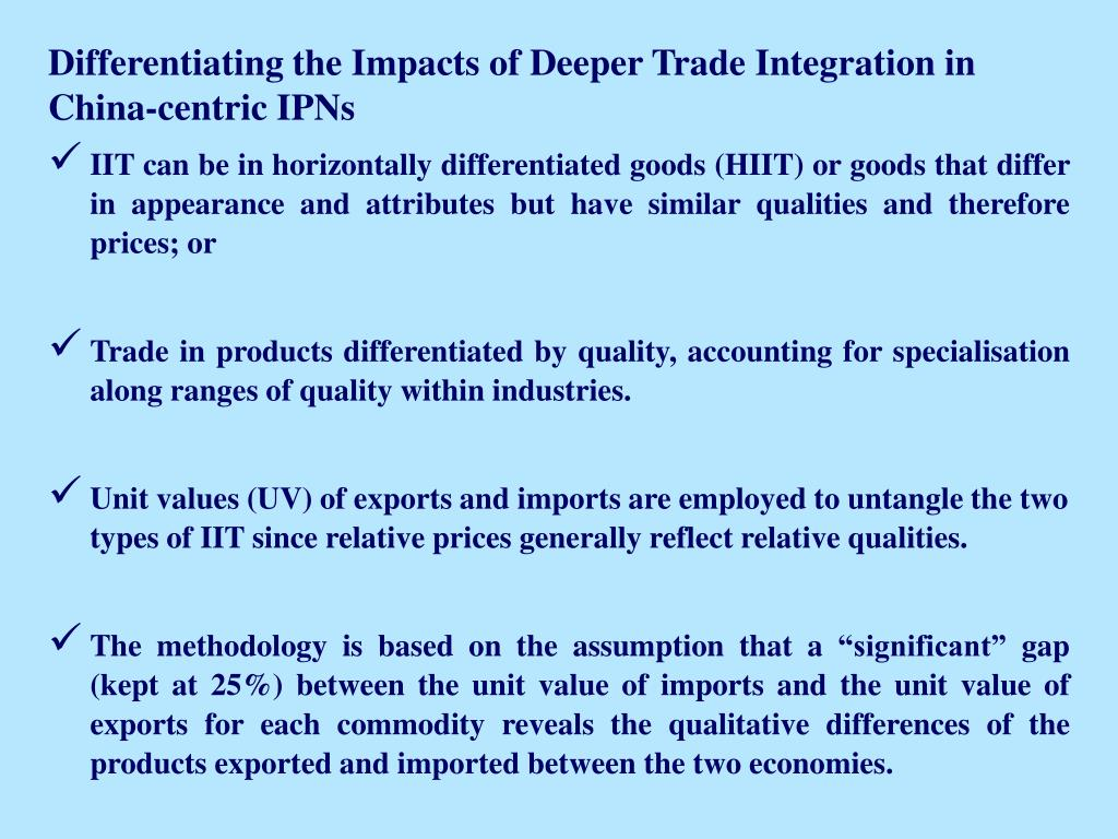 Differentiating the Impacts of Deeper Trade Integration in China-centric IPNs