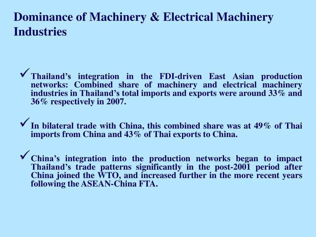 Dominance of Machinery & Electrical Machinery Industries