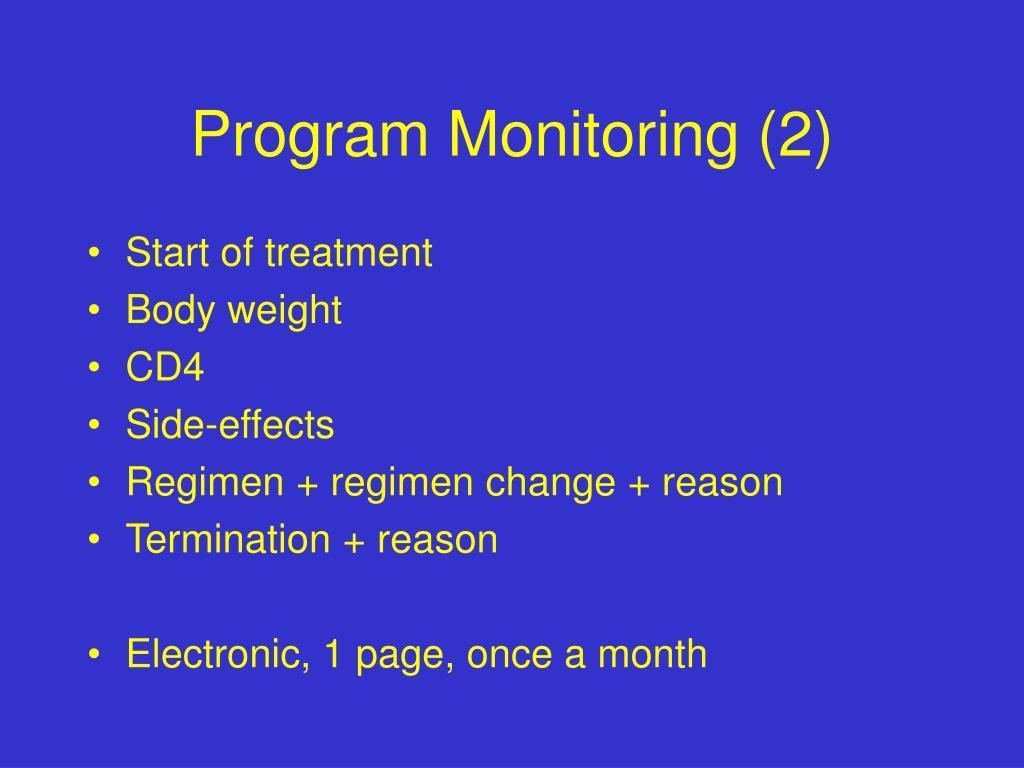 Program Monitoring (2)