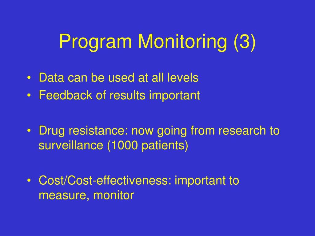 Program Monitoring (3)