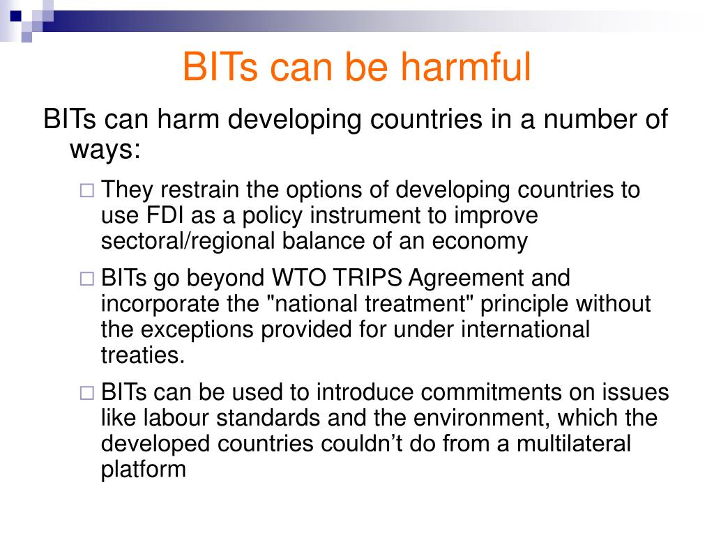BITs can be harmful