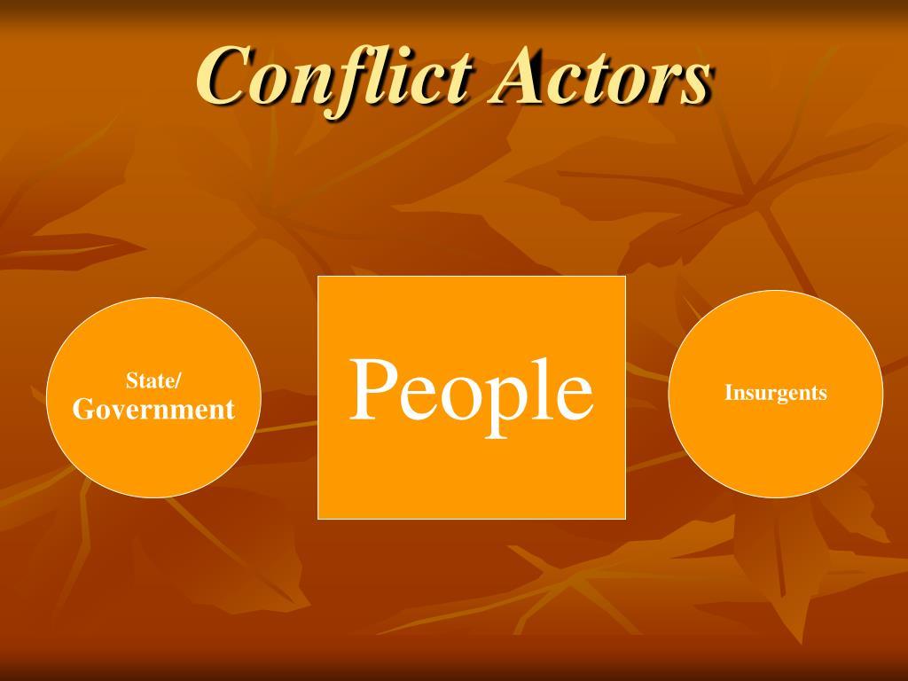Conflict Actors