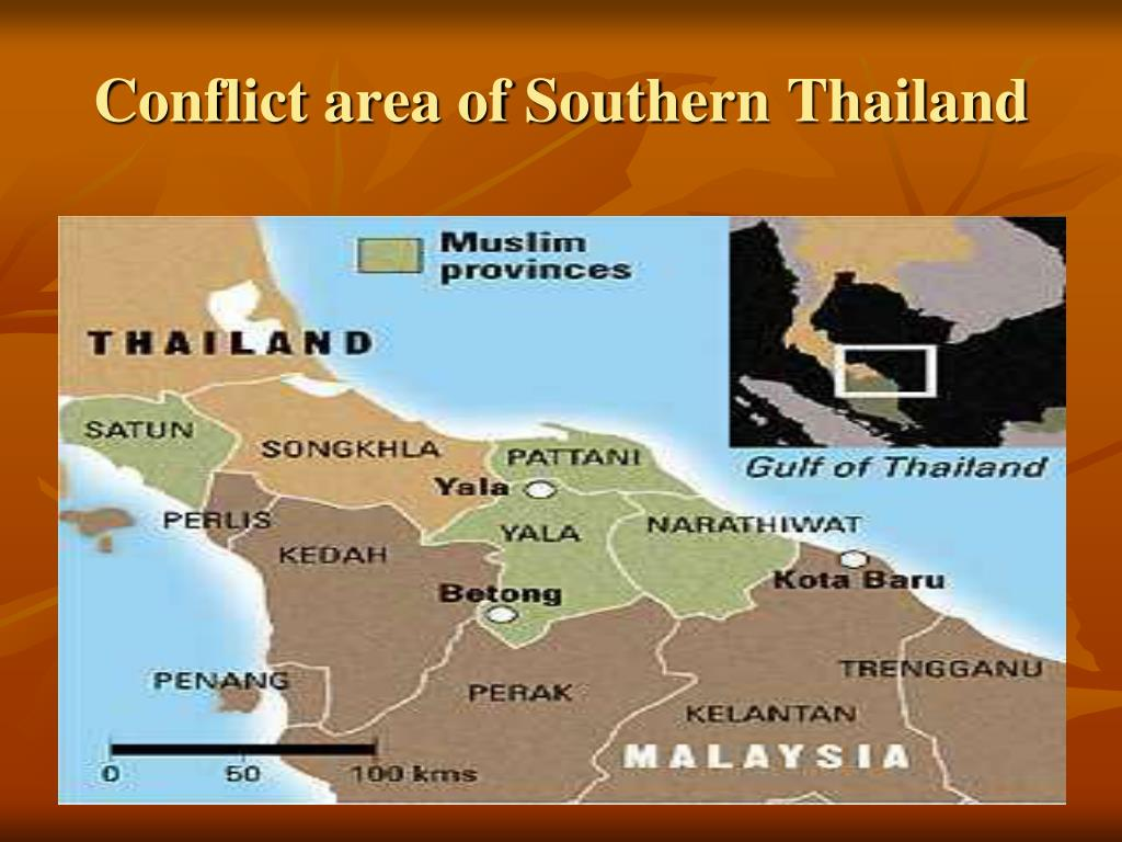 Conflict area of Southern Thailand