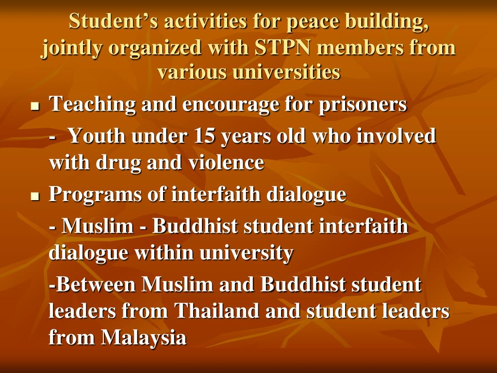 Student's activities for peace