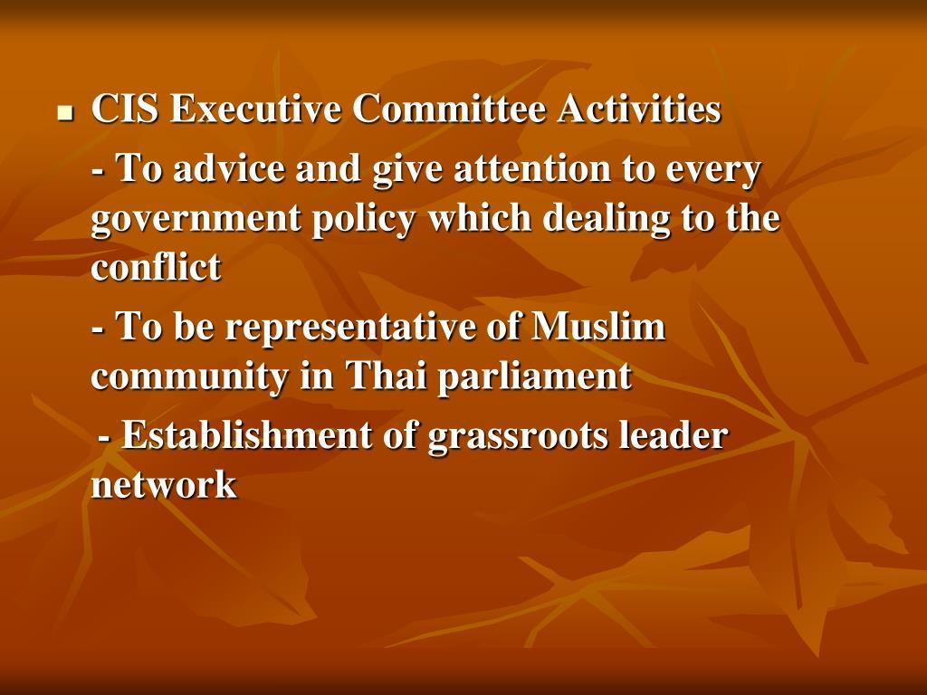CIS Executive