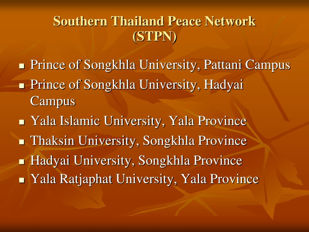 Southern Thailand Peace Network