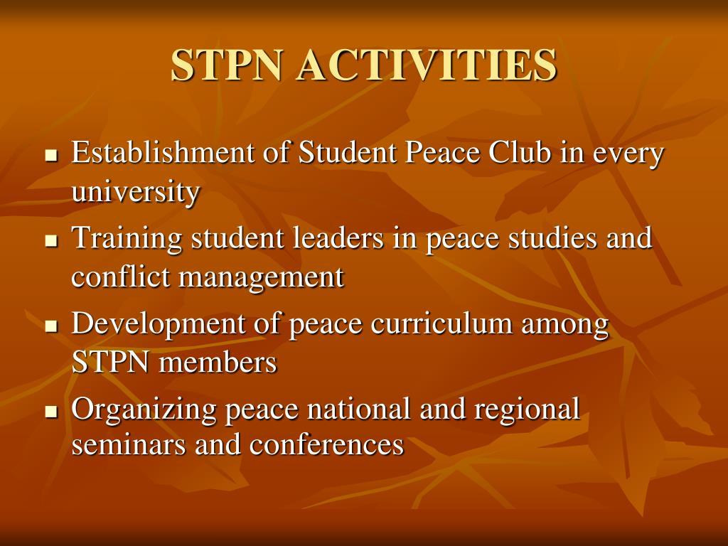 STPN ACTIVITIES