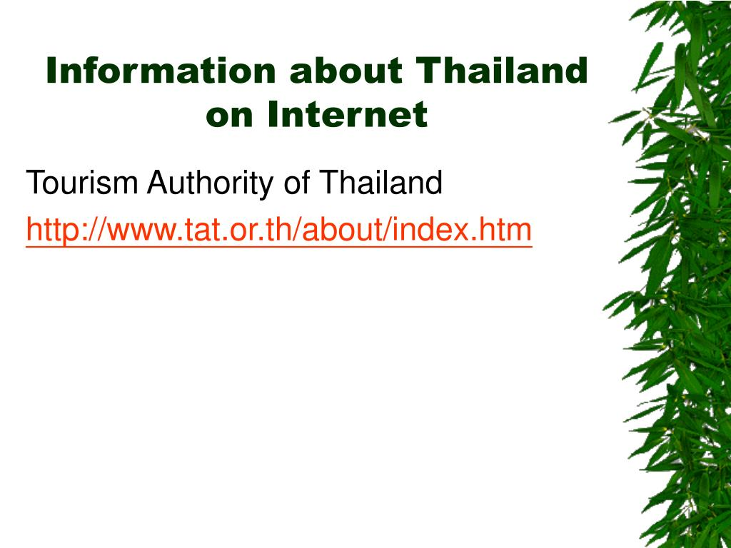 Information about Thailand on Internet