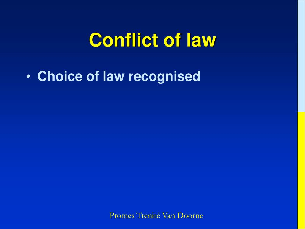 Conflict of law