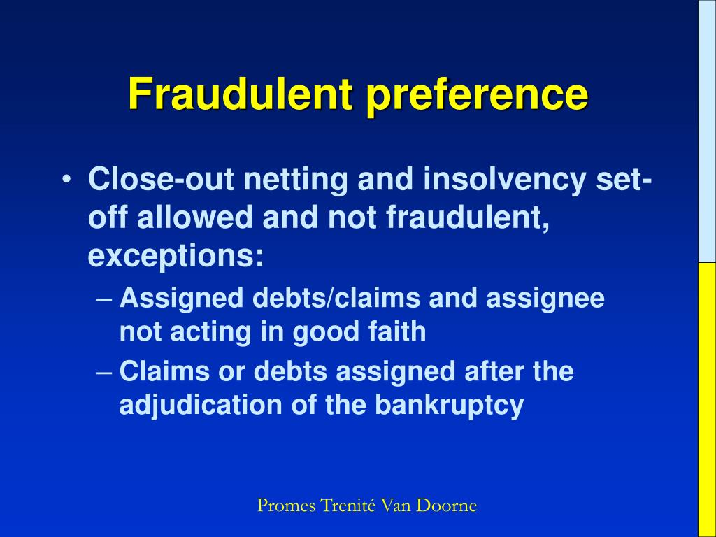 Fraudulent preference
