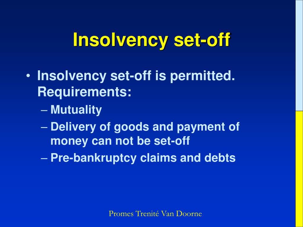Insolvency set-off