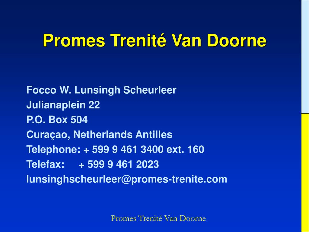 Promes Trenité Van Doorne