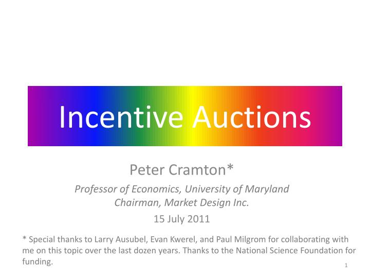 Incentive auctions