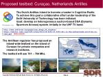 proposed testbed cura ao netherlands antilles