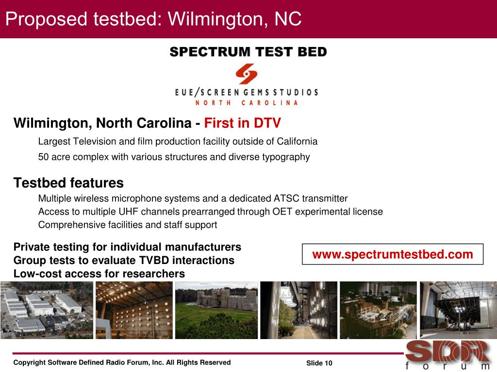 Proposed testbed: Wilmington, NC
