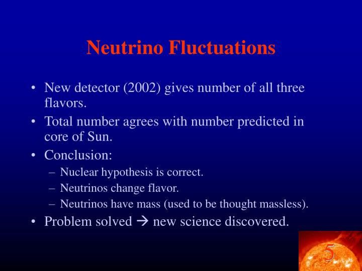 Neutrino Fluctuations
