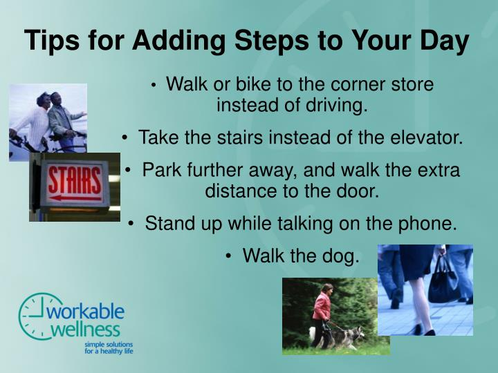 Tips for Adding Steps to Your Day